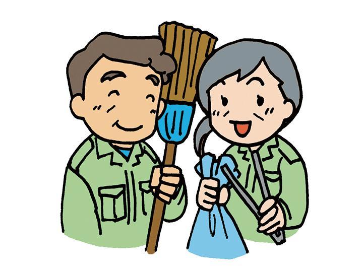 【マンションの清掃スタッフ 】シニア大歓迎!月10日程度の勤務だから私生活とバランスがとりやすい♪